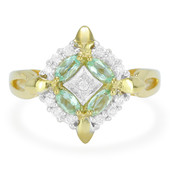9K Brazilian Paraiba Tourmaline Gold Ring