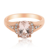 9K AAA Morganite Gold Ring