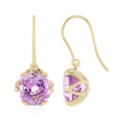 9K Rose de France Amethyst Gold Earrings (PHANTASIA)