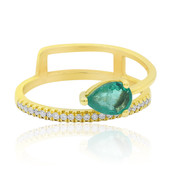 18K AAA Zambian Emerald Gold Ring (CIRARI)