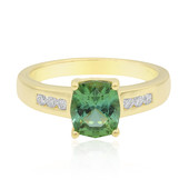 18K Maine Tourmaline Gold Ring