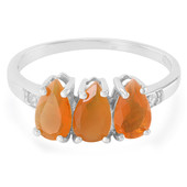 Buriti Fire Opal Silver Ring