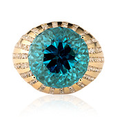 14K Swiss Blue Topaz Gold Ring (de Melo)