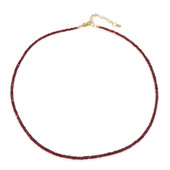 Noble Red Spinel Silver Necklace