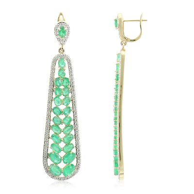 14K Sao Francisco Emerald Gold Earrings (de Melo)