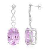 18K Patroke Kunzite Gold Earrings
