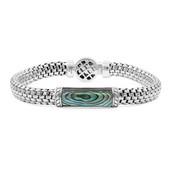 Abalone Shell Silver Bracelet (Nan Collection)