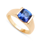 18K AAA Tanzanite Gold Ring