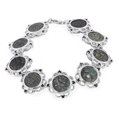 Ancient Widows Mite Prutah Coin Silver Bracelet
