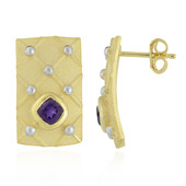 Zambian Amethyst Silver Earrings (MONOSONO COLLECTION)