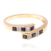 9K Blue Sapphire Gold Ring
