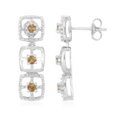 Andalusite Silver Earrings