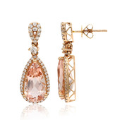 14K Morganite Gold Earrings