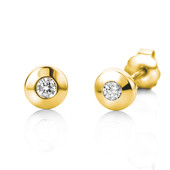 14K SI Diamond Gold Earrings