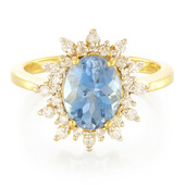 18K Santa Maria Aquamarine Gold Ring