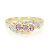 10K Unheated Ceylon Purple Sapphire Gold Ring (Molloy)