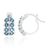 London Blue Topaz Silver Earrings