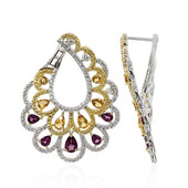 Rajasthan Rhodolite Silver Earrings (Dallas Prince Designs)