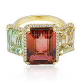 14K Fancy Tourmaline Gold Ring (CIRARI)