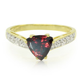 Red Zircon Silver Ring (Cavill)