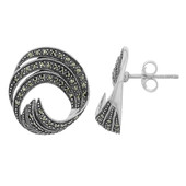Marcasite Silver Earrings (M de Luca)
