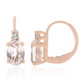 9K AAA Morganite Gold Earrings