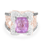 9K Spanish Pink Fluorite Gold Ring