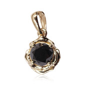 9K Black Diamond Gold Pendant