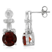 Imperial Red Citrine Silver Earrings