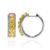 18K SI2 Yellow Diamond Gold Earrings (CIRARI)