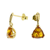 9K Baltic Amber Gold Earrings