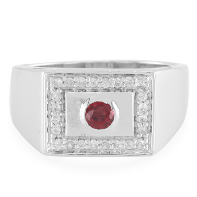 Malawi Ruby Silver Ring