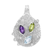 Peridot Silver Pendant (MONOSONO COLLECTION)