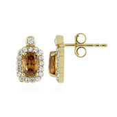 9K Vibhor Zircon Gold Earrings
