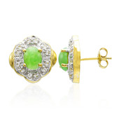 Imperial Chrysoprase Silver Earrings