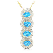 18K Neon Blue Apatite Gold Necklace