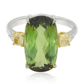 14K Green Tourmaline Gold Ring