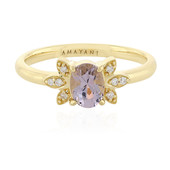 18K Purple Burmese Spinel Gold Ring