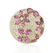 9K Pink Tourmaline Gold Ring (Adela Gold)