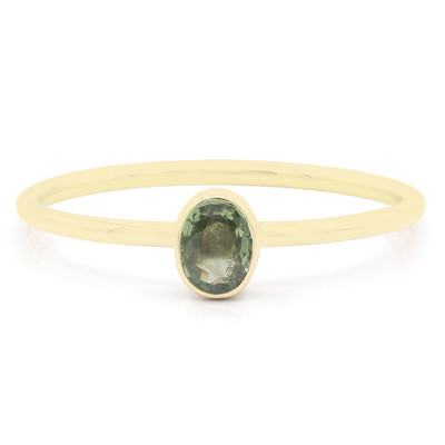 9K Green Sapphire Gold Ring
