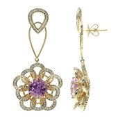 18K AAA Urucum Kunzite Gold Earrings (de Melo)