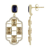 9K Nepal Kyanite Gold Earrings