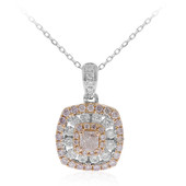 18K SI Pink Diamond Gold Necklace (CIRARI)