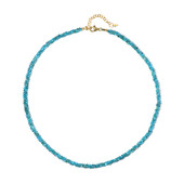 Neon Blue Apatite Silver Necklace