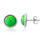 Kingman Green Mojave Turquoise Silver Earrings