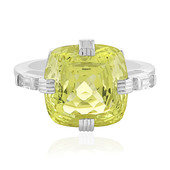Canary yellow citrine Silver Ring (PHANTASIA)