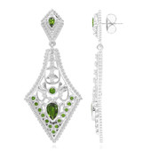 Russian Diopside Silver Earrings (Dallas Prince Designs)