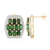 18K Imperial Chrome Tourmaline Gold Earrings
