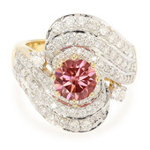 18K VS1 Pink Diamond Gold Ring