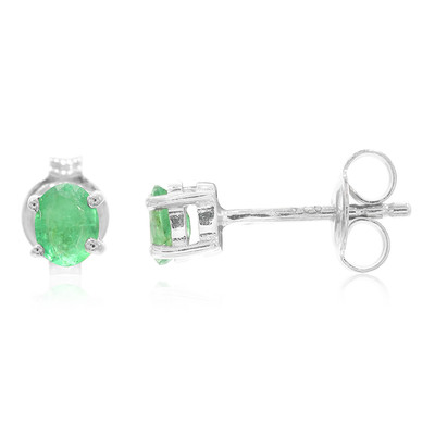 Bahia Emerald Silver Earrings (Cavill)